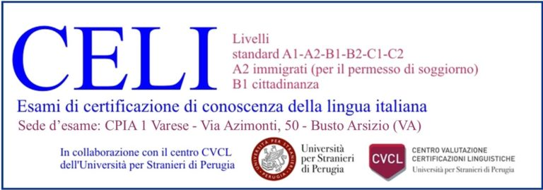 Comunicazione Orario Esami CELI del 16 febbraio 2021